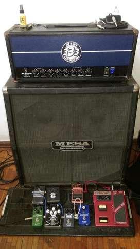Amplificador Cabezal JetCity 50w by Soldano + Cabinet Fender 4x12 Head y Caja Combo
