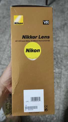 Lente Nikon 70-300mm AF-S VR Zoom F/4.5 - 5.6g IF-ED
