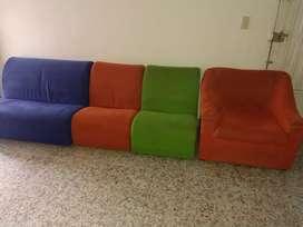 Se vende juego de muebles usados
