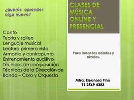 CLASES DE MÚSICA ONLINE Y PRESENCIAL