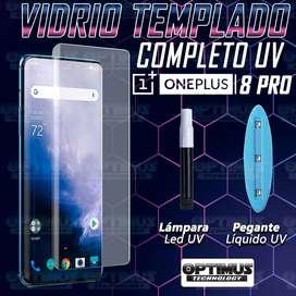 Vidrio Cristal templado Protector UV Dispersión Liquida Compatible con Huella para Oneplus 8 Pro