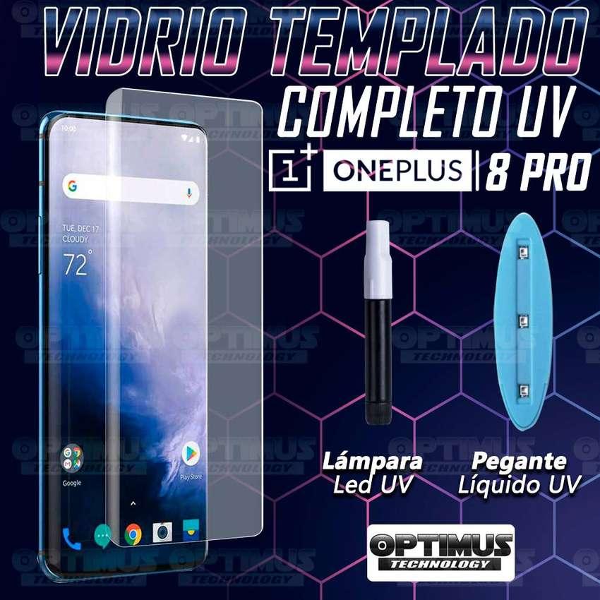 Vidrio Cristal templado Protector UV Dispersión Liquida Compatible con Huella para Oneplus 8 Pro 0