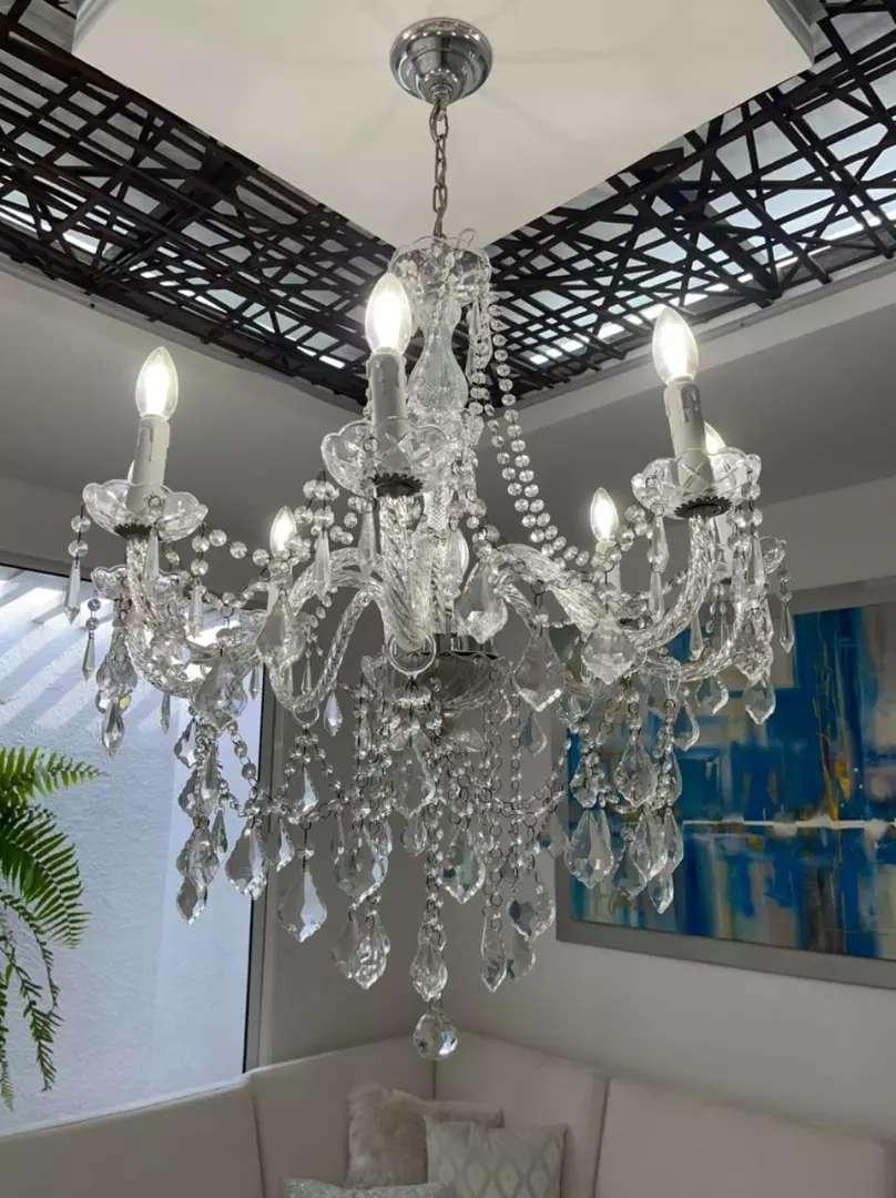 Lámpara cristal 8 luces