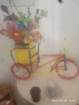 Maceta de triciclo de adorno