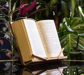Porta Libros de Bambú