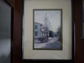 caudro en acuarela firmado 1992 galeria