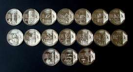 Monedas Serie Riqueza y Orgullo del Peru , 04 Monedas nuevas por 10 soles.