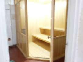 vendo sauna  en pino candiense, para 5 personas