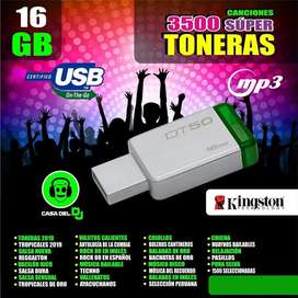Usb16Gb.Kingston con 3500 caciones Super toneras
