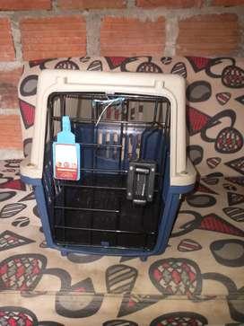Guacal para transporte de perros