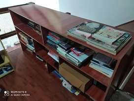 Mueble organizador. Melamina color Nogal.