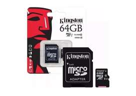 Memoria Micro Sd 64gb Kingston + Adaptador