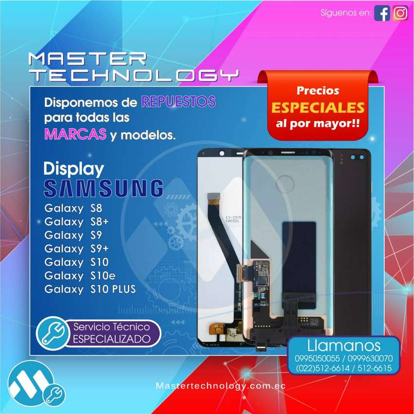 Display Samsung S5 S6 S7 S8 S8 S9 S10 Plus Edge Note 4 5 8 9 0