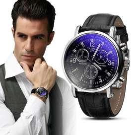 Reloj Le temps ilusion of time hombre caballero cuero analogo