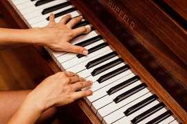 Clases de piano, virtual y presencial