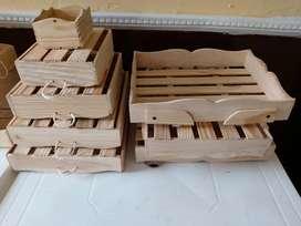 Cajas de madera para regalo , desayunos