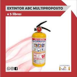 EXTINTOR ABC MULTIPROPOSITO X 5 LB