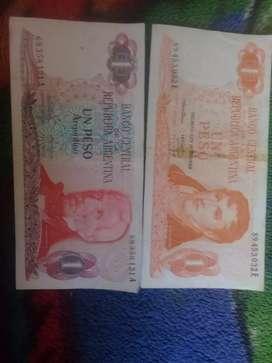 Billetes viejos Argentinos