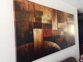 Cuadro pintura moderno al oleo