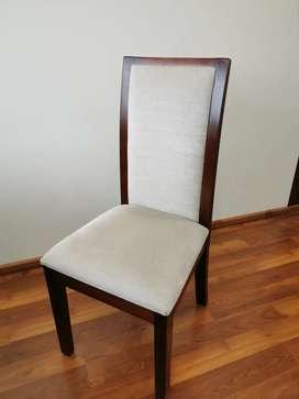 Juego de comedor 8 sillas de madera