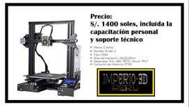 Venta de IMPRESORA 3D + Capacitacion y Soporte