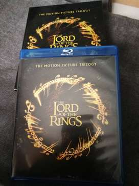 Trilogía el Señor de los Anillos en Blue Ray y DVD para un total de (8) DISCOS
