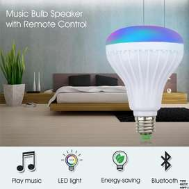 Bombillo Parlante Bluetooth USB Lámpara Led Eléctrica Control Nuevo