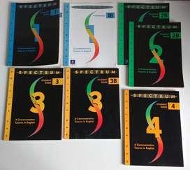 Lote 7 Libros De Ingles Spectrum Student Book 1 2b 3 3b Y 4 lote2022 esc2022