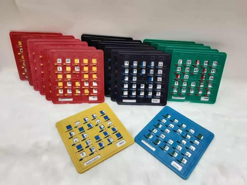 TABLAS DE BINGO x 30 plasticas 0