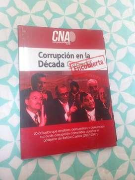 """Vendo o Cambio libro """"CORRUPCIÓN EN LA DÉCADA"""""""