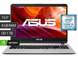 """LAPTOP ASUS X507UB 15.6"""" CORE I5 1TB 8GB VIDEO MX110 2GB"""