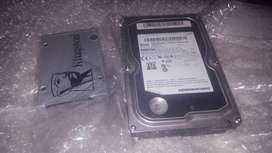 Disco rigido (duro) Samsung HDD y SSD Estado solido Kingston uv400