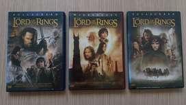 Películas DVD Originales Trilogía el Señor de los anillos Importada Solo idioma ingles Edición especial