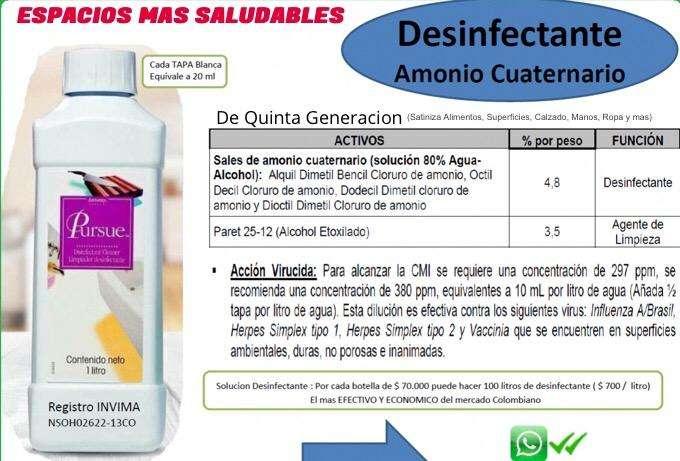 Desinfectante amonio cuaternario de quinta generacion el mas efectivo 0