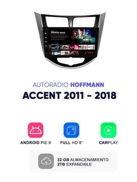 "Autoradio Hoffmann Homologado Hyundai Accent 2011 – 2018 9"" CarPlay Android 9.1"