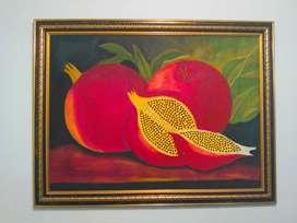 Cuadro al oleo de frutas