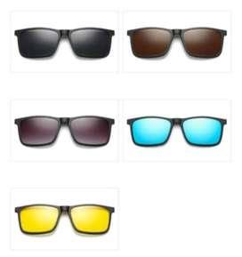 Gafas De Sol Montura Magnética Polarizado 5 En 1 - 12126