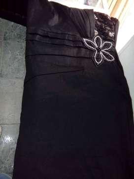 Vestido de fiesta negro talla l