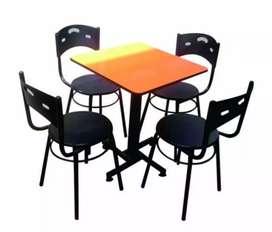 Fabrica de mesas y sillas para restaurante, bar, café, heladería.