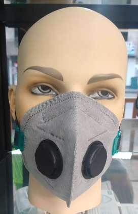 Mascarilla de 6 Capas  con 2 Válvulas de Exhalación