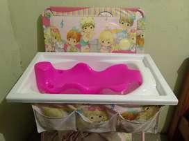 Bañera con cambiador