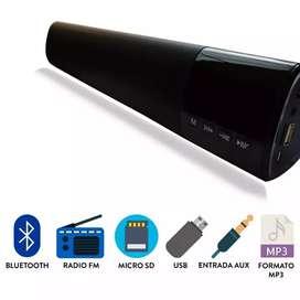 Barra sonido Bluetooth 40cm, pantalla led 10w, USB,FM,sd