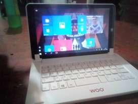 Tablet woo con Windows 10 incluido teclado inalámbrico Bluetooth