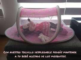 CUNA PORTÁTIL MOSQUITERO PLEGABLE PARA BEBÉS!!
