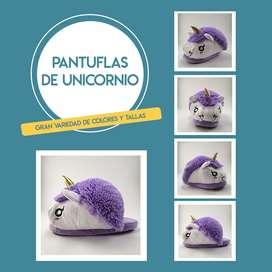BABUCHAS Y PANTUFLAS DE UNICORNIO