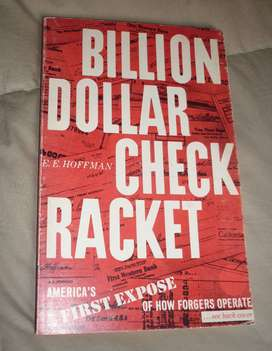 BILLION DOLLAR CHECK RACKET . HOFFMAN . LIBRO USA 1976 EN INGLES TODO SOBRE CHEQUES AMERICANOS