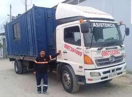 gruas para plataforma remolque en montacargas camiones maquinarias pesado pesada traslado de contenedores guayaquil grua