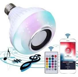 Bombillo parlante LED Bluetooth multicolor Rgb + control, ( OJO El PRECIO PUEDE VARIAR)