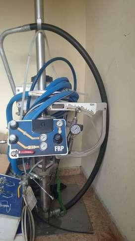 Máquina de aspersión de fibra de vidrio y resina Marca GRECO