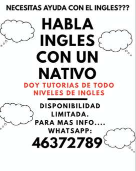 TUTORIAS DE INGLES CON NATIVO